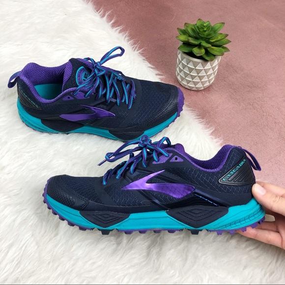 a60d63da8e0 Brooks Shoes - Brooks 7 Cascadia Purple Blue Running Trail Shoes